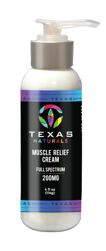 CBD MUSCLE RELIEF CREAM 200MG - Texas Naturals CBD Oil