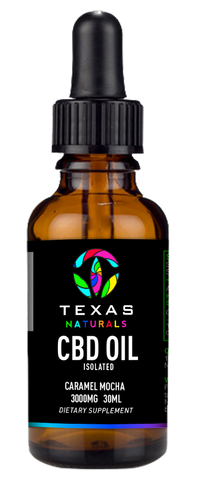 CBD OIL ISOLATE CARAMEL MOCHA 3000MG - Texas Naturals CBD Oil