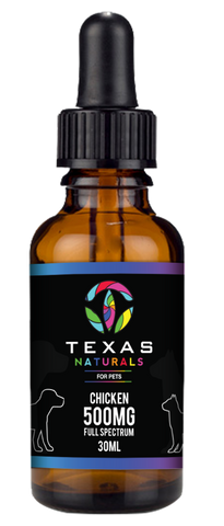 CBD OIL FOR PETS (CHICKEN) 500MG - Texas Naturals CBD Oil