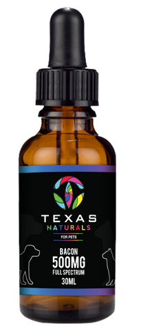 Bacon CBD Oil For Pets 500MG - Texas Naturals CBD Oil