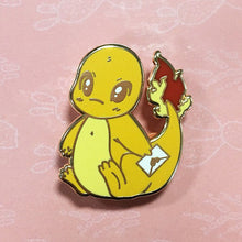 Load image into Gallery viewer, Messenger Charmander Enamel pin - Petty Bones Club