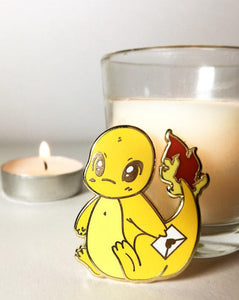 Messenger Charmander Enamel pin - Petty Bones Club