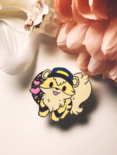 Officer Growlithe enamel pin