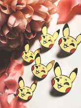 Load image into Gallery viewer, Pikachu Face Enamel pin - Petty Bones Club