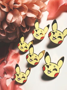 Pikachu Face Enamel pin - Petty Bones Club