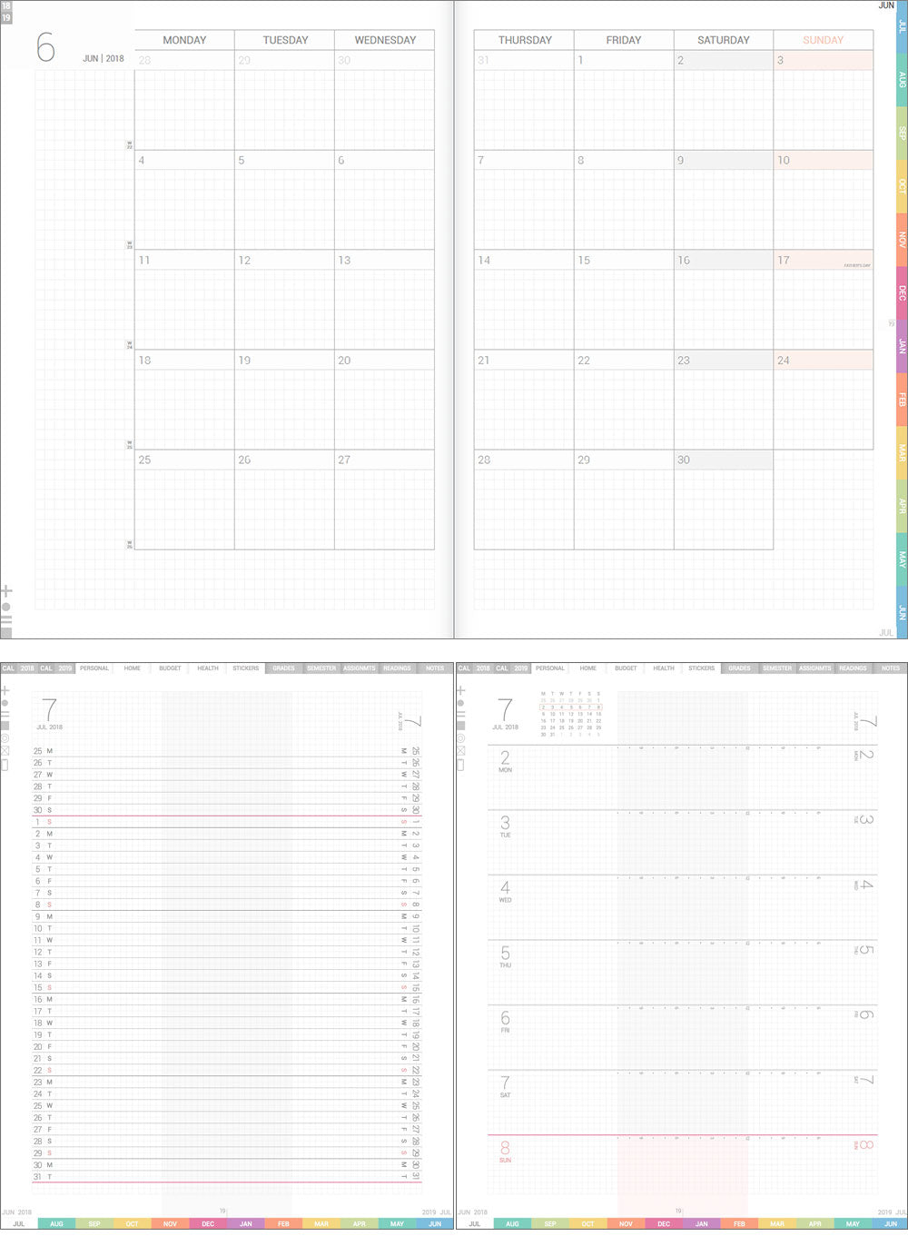 photograph relating to Free Digital Planner Pdf identify Free of charge electronic planner pattern internet pages (2019 January edition