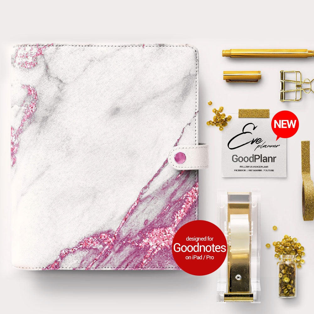 Eve Planner - Pink marble cover - Goodplanr