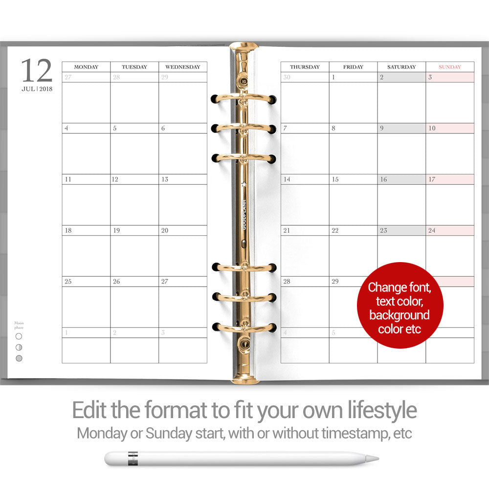 Eve Planner - Beehive cover - Goodplanr