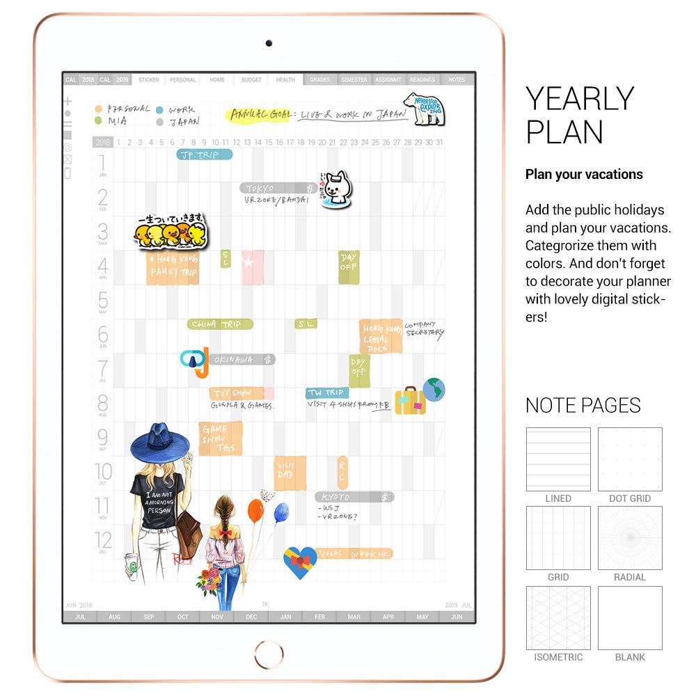 Veho digital planner 2018-19 - Goodplanr