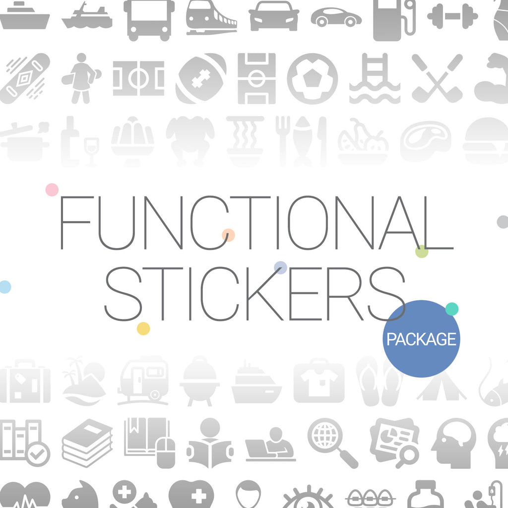 Functional stickers package - Goodplanr