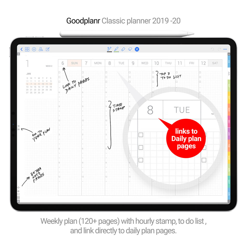 Classic Planner 2019-20 - Black cover - Goodplanr