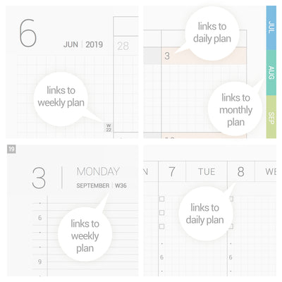 Classic Planner 2019 - Colour tabs