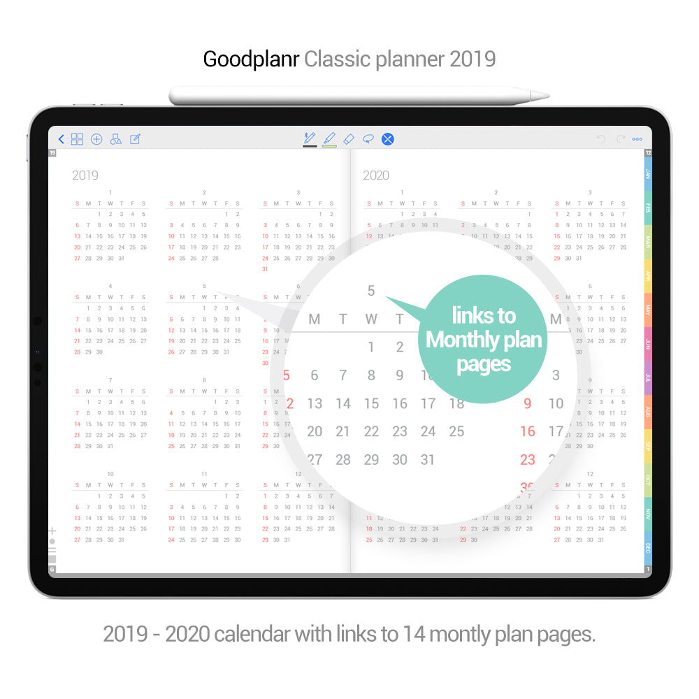 Classic Planner 2019 - Green cover - Goodplanr