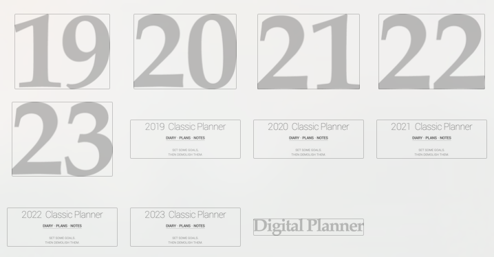 Assorted Digital Planner covers V.2 - Goodplanr