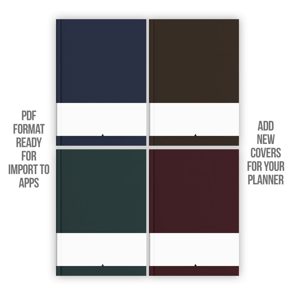 Dark tone Digital Planner covers - Goodplanr