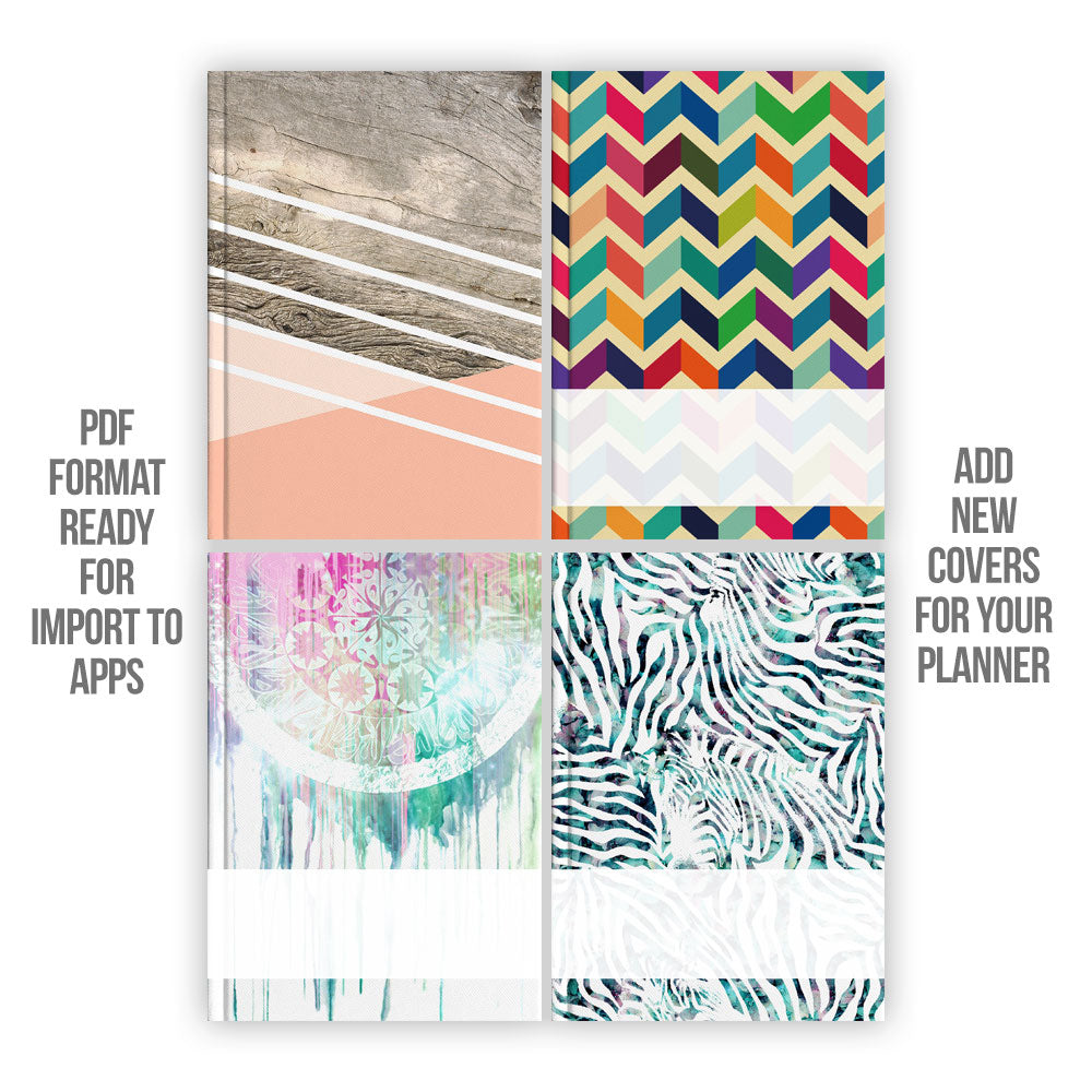 Assorted Digital Planner covers - Goodplanr