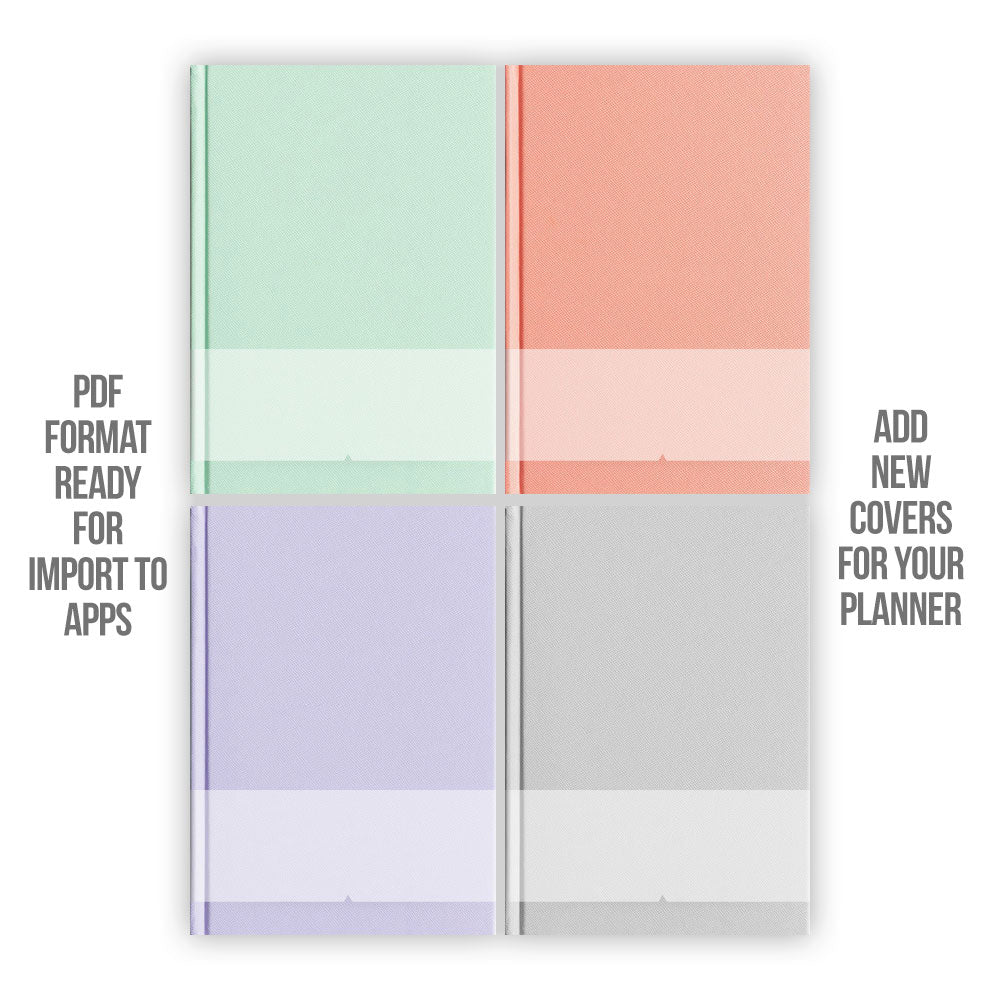 Pastel Digital Planner covers - Goodplanr