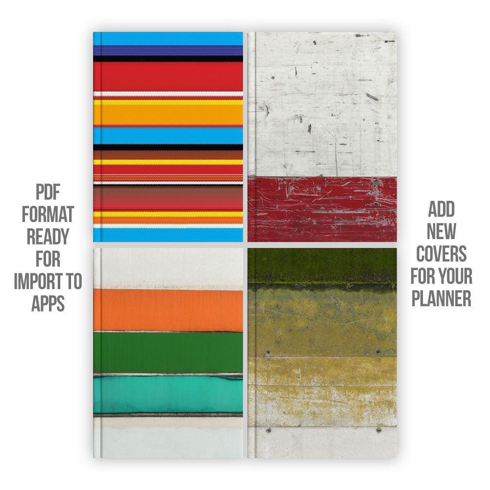 Stripes Digital Planner covers - Goodplanr