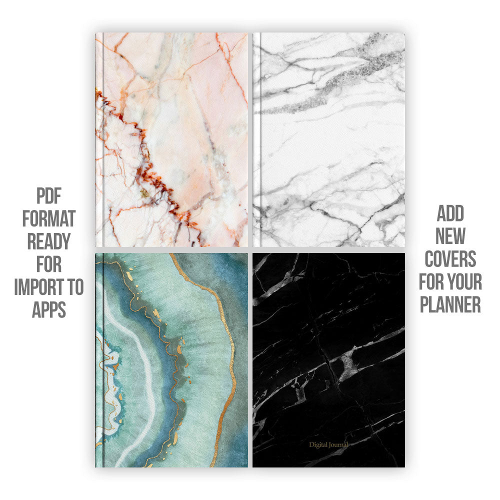 Marble Digital Planner covers - Goodplanr
