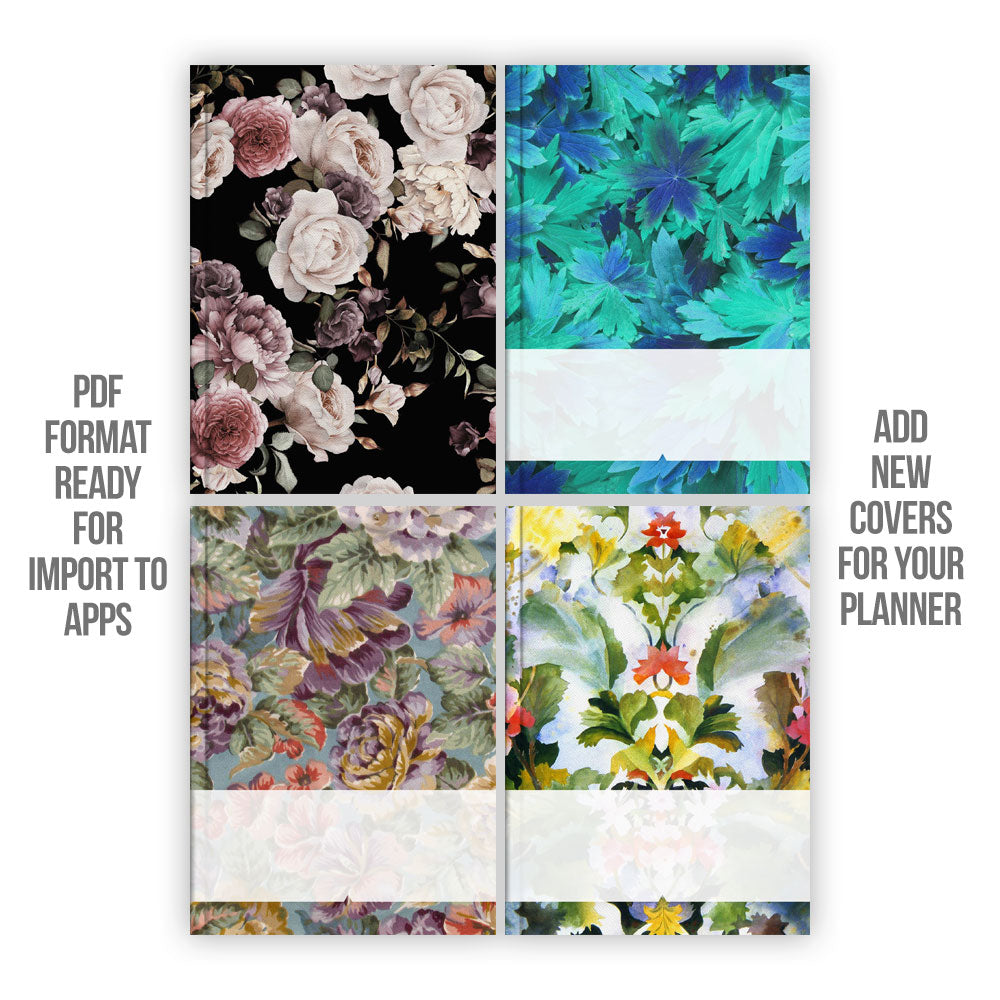 Floral Digital Planner covers V.2 - Goodplanr
