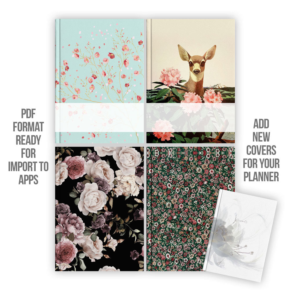 Floral Digital Planner covers - Goodplanr