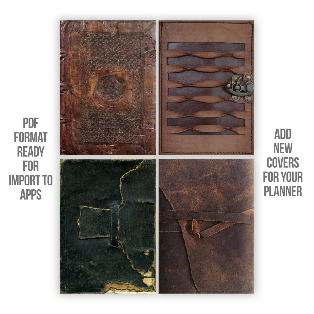 Leather Digital Planner covers - Goodplanr