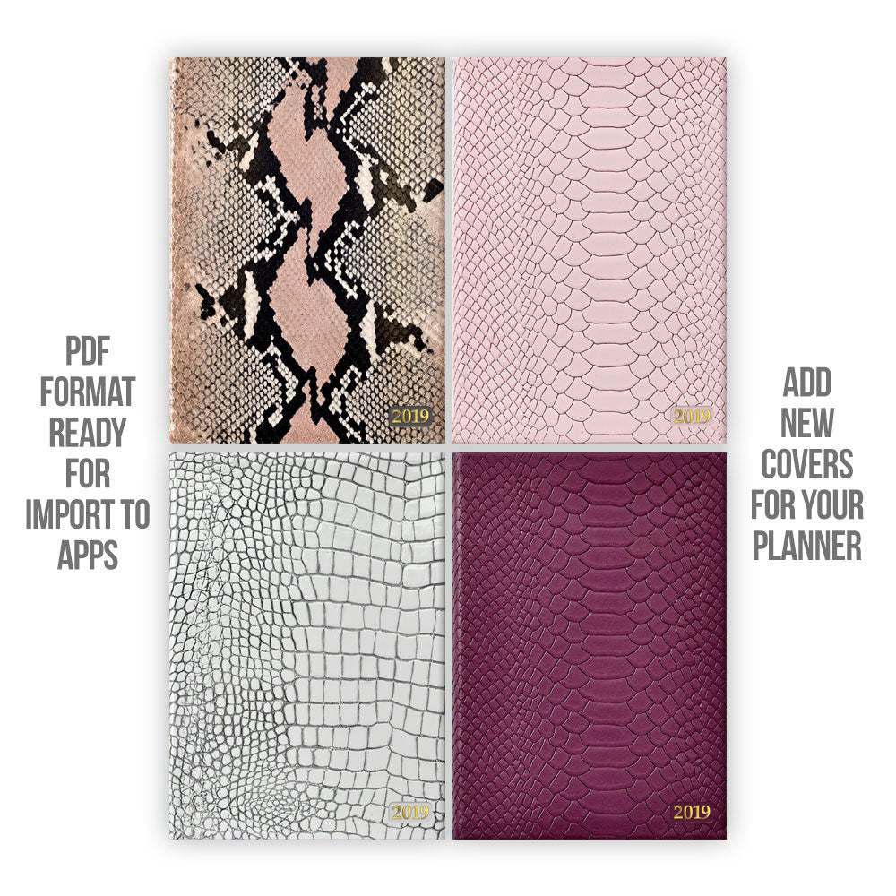 Snakeskin & Crocodile leather Digital Planner covers - Goodplanr