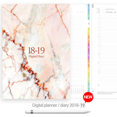 Pink marble cover Digital Planner - Goodplanr