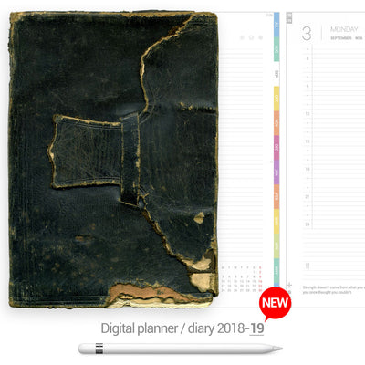 Green leather cover Digital Planner - Goodplanr