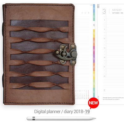 Locked leather cover Digital Planner - Goodplanr