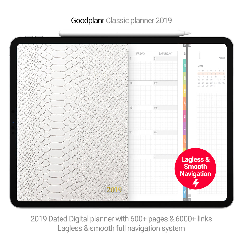 Classic Planner 2019 - white cover - Goodplanr