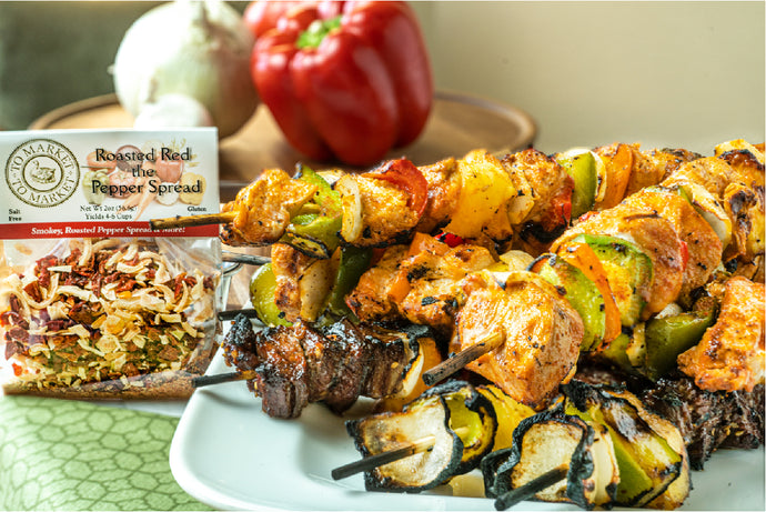 Roasted Red Kickin' Chicken Kabobs