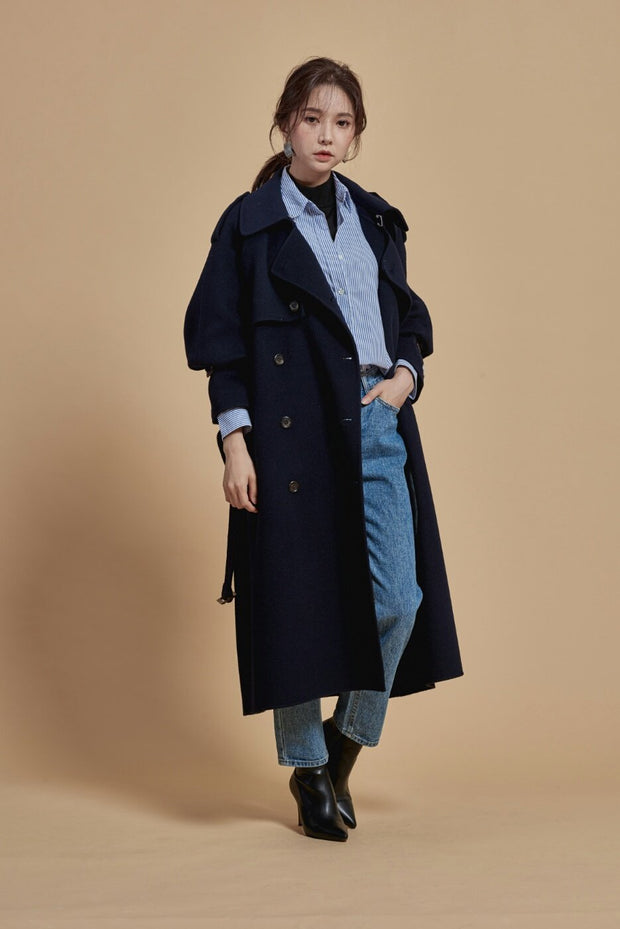 Romance hand-made Coat ( Navy )