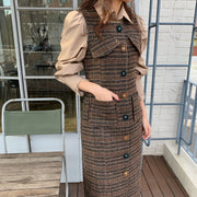 Jewel button checked Dress