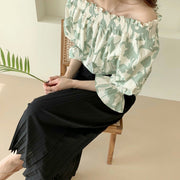 Blossom off-shoulder Blouse