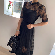 Whole lace Dress with an inner slip dress