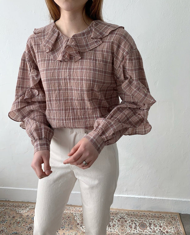 Feather frill Blouse