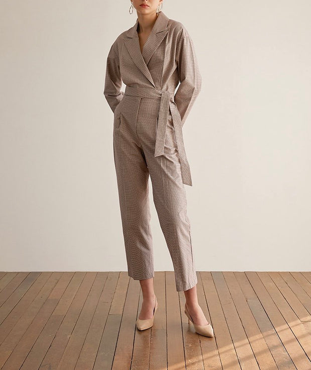 Peppermint belted Jumpsuit