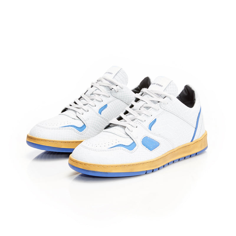 BATTALION LOW 1.0 - WHITE / ROYAL PYT