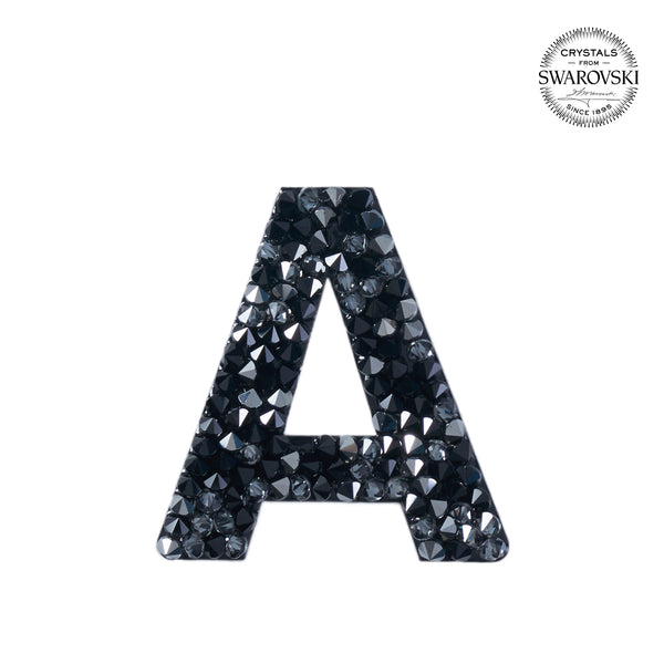 "SWAROVSKI® ADHESIVE STICKER ""A"" - BLACK"