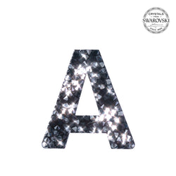 "Select below for letters ""A"" through ""M"".  Self Adhesive Stickers made with crystals from Swarovski® - BLACK"