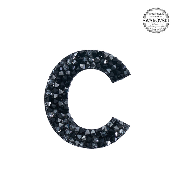 "SWAROVSKI® ADHESIVE STICKER ""C"" - BLACK"