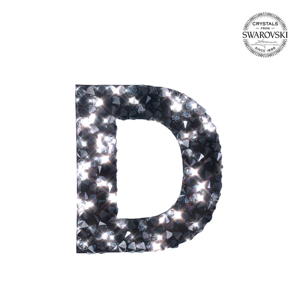 "SWAROVSKI® ADHESIVE STICKER ""D"" - BLACK"