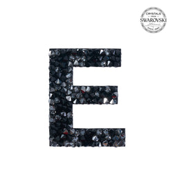 "SWAROVSKI® ADHESIVE STICKER ""E"" - BLACK"