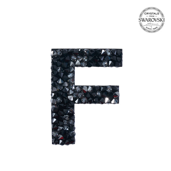 "SWAROVSKI® ADHESIVE STICKER ""F"" - BLACK"