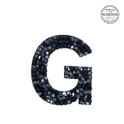 "SWAROVSKI® ADHESIVE STICKER ""G"" - BLACK"