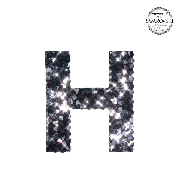 "SWAROVSKI® ADHESIVE STICKER ""H"" - BLACK"