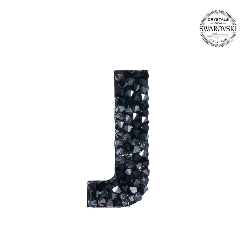 "SWAROVSKI® ADHESIVE STICKER ""J"" - BLACK"