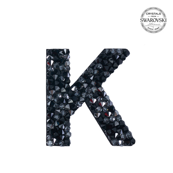 "SWAROVSKI® ADHESIVE STICKER ""K"" - BLACK"