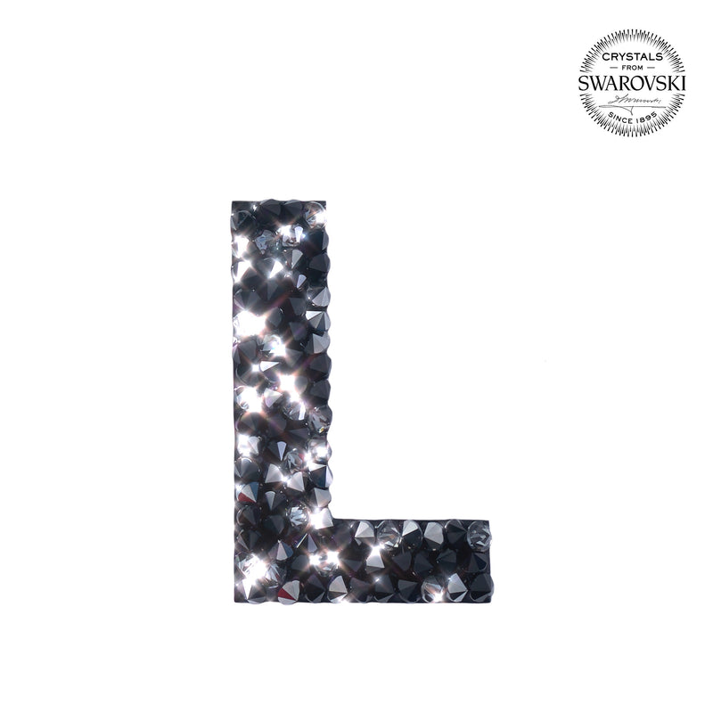 "SWAROVSKI® ADHESIVE STICKER ""L"" - BLACK"